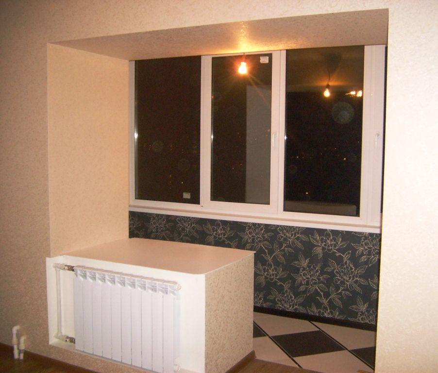 расширить комнату убрать балконный блок фото